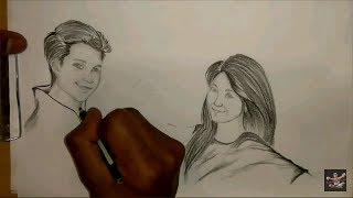 Time lapse drawing stefan william & natasha wilona