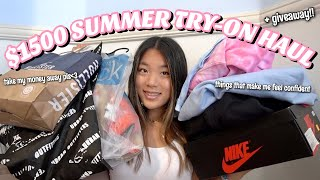 $1500 SUMMER TRY-ON CLOTHING HAUL + GIVEAWAY :)