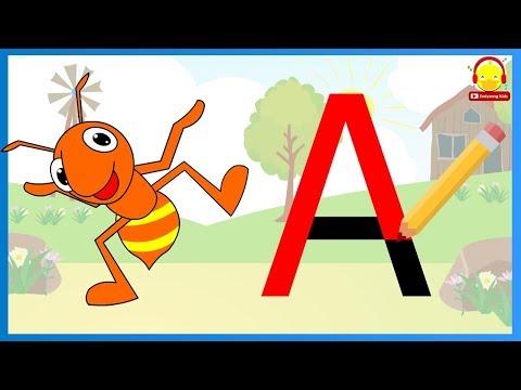 เขียน ABC | สอนเอบีซี | ตัวอักษรภาษาอังกฤษพิมพ์ใหญ่ 26 ตัว |  indysong kids
