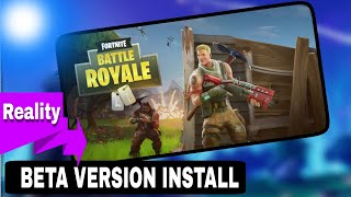 Fortnite beta install in android phone reality !!!