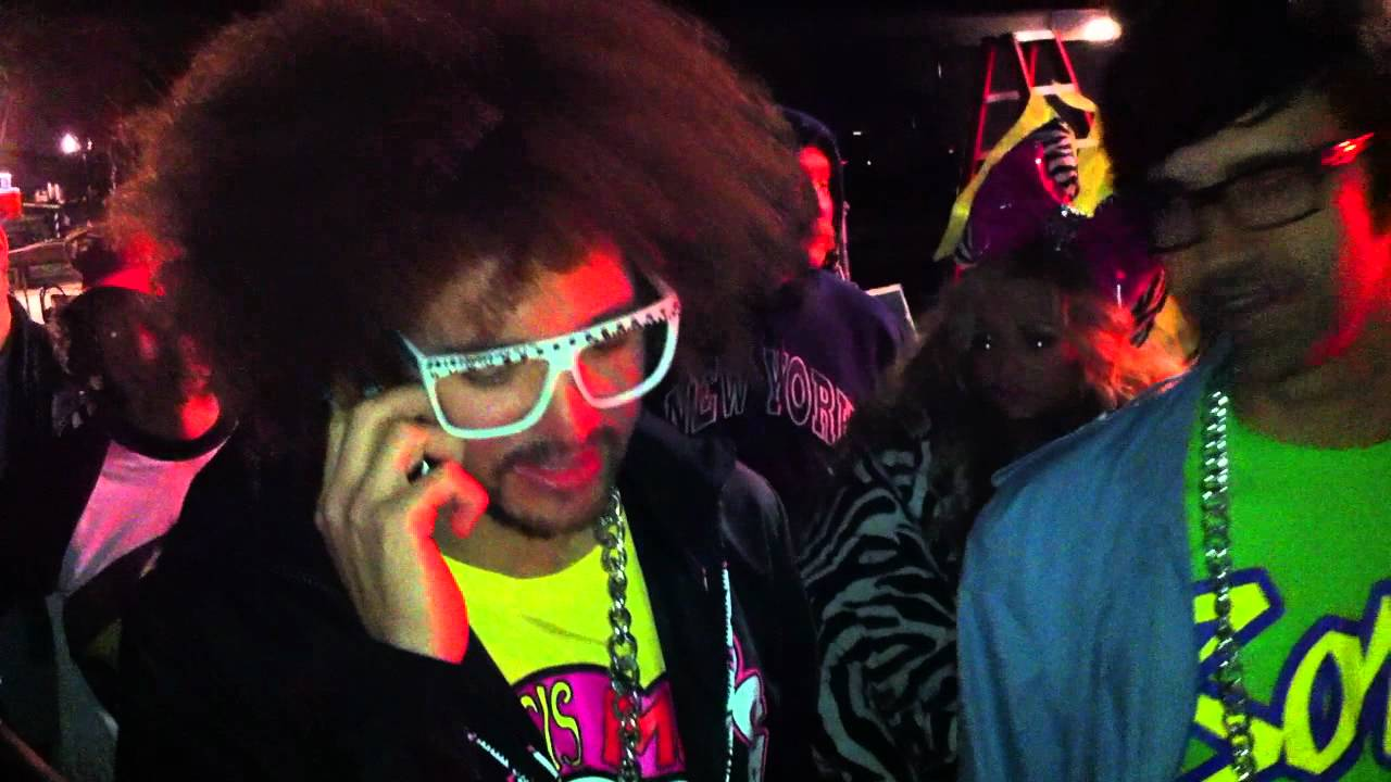 EXCLUSIVE: On the set with LMFAO's RedFoo - Link's iPhone footage from the set of LMFAO's music video 'Sorry For Party Rocking'.