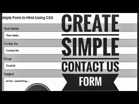 Contact Us Form Html - Responsive Contact Us Form Using Html And Css - Contact Form Design