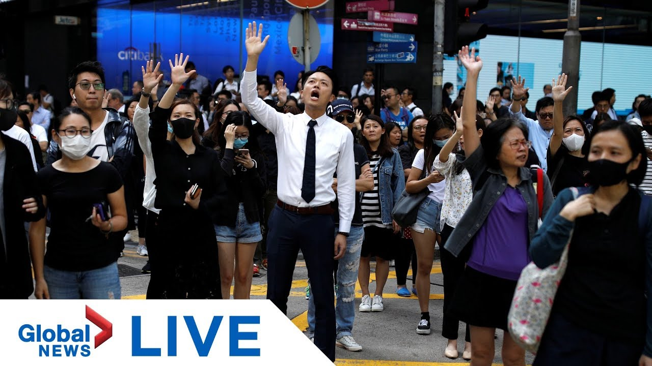 Hong Kong protesters gather where student died in clash with police | LIVE