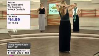 Artizan by Robin Barre The Seamless V-Neck Camisole on Shopping Channel Thumbnail