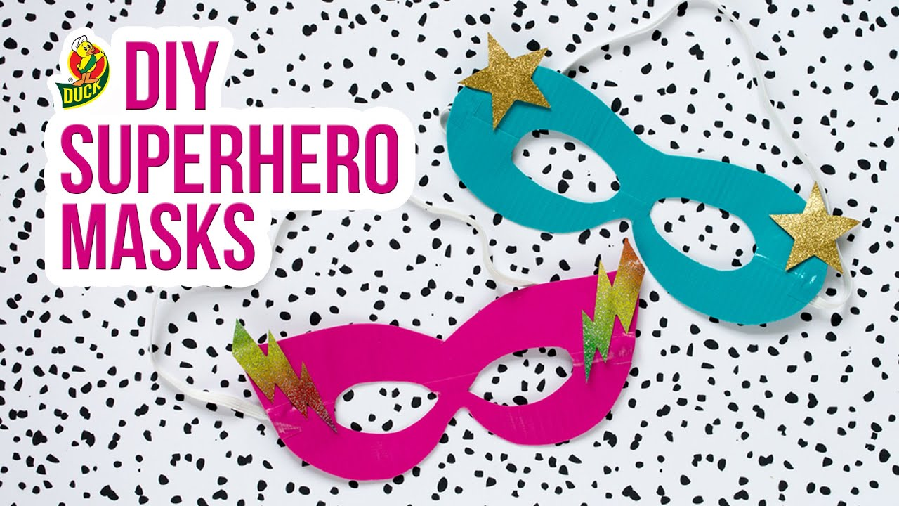 how to craft a duck tape superhero mask youtube
