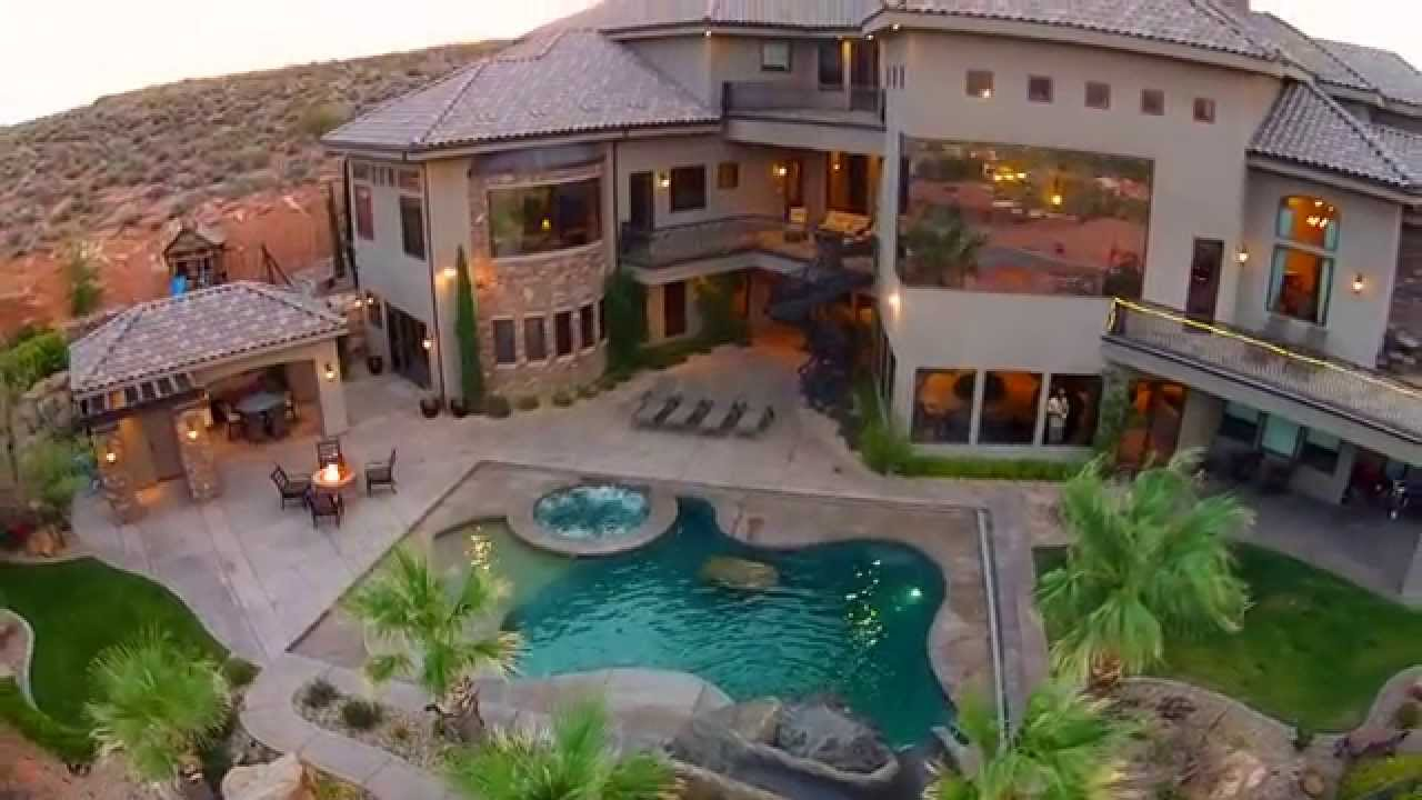 Fantasia st george utah ultra luxury home short youtube for Homes for sale in utah with swimming pools