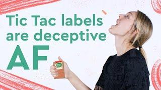 Despite the Label, Tic Tacs are Almost Entirely Sugar