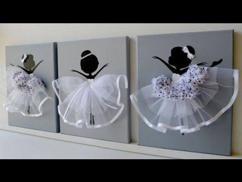 Diy How To Make Ballerina Canvas Wall Art Youtube