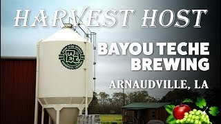 Harvest Host Camping at Bayou Teche Brewery in Louisiana