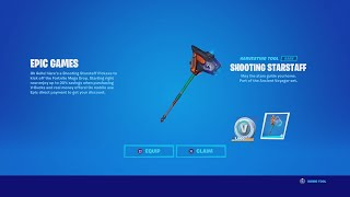 How To Get A FREE Pickaxe In Fortnite! (New Shooting Starstaff Pickaxe Gameplay & Review)