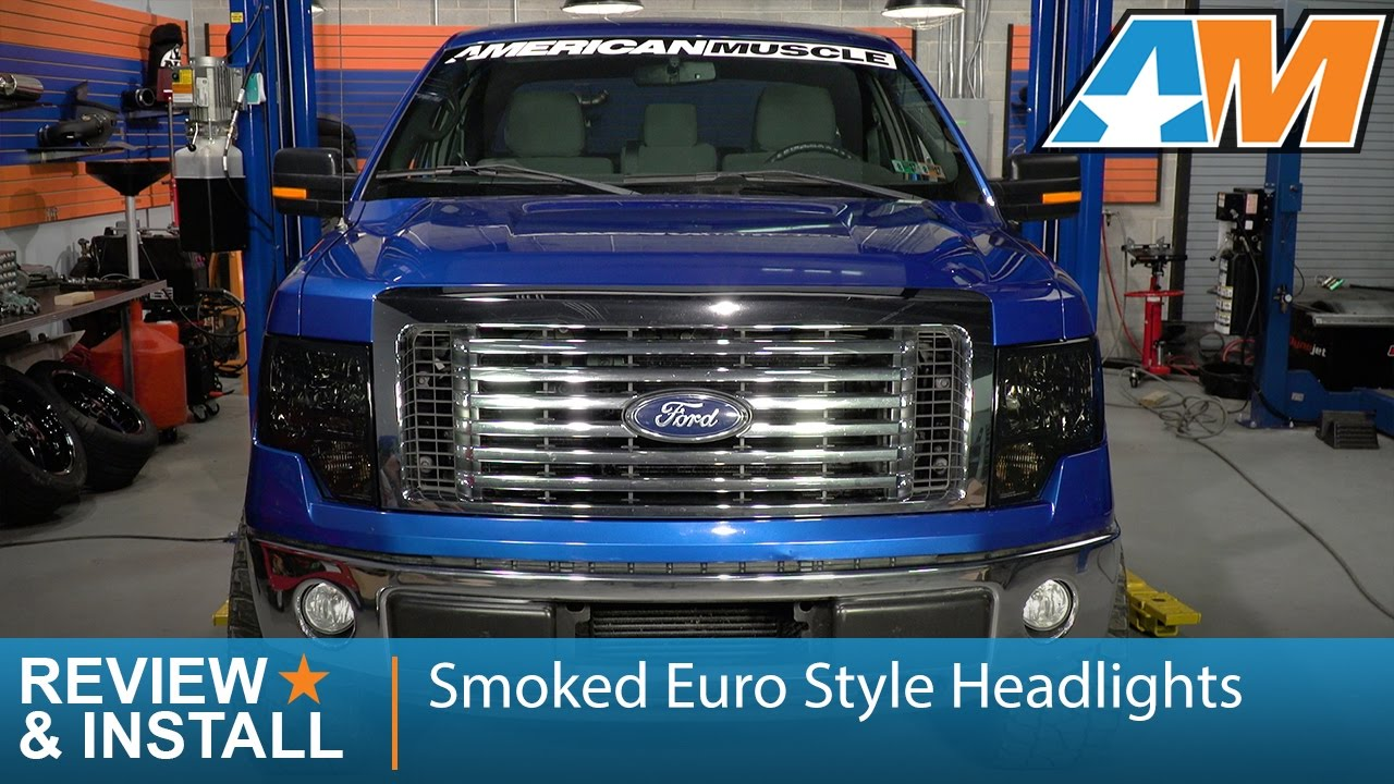 hight resolution of 2009 2014 f 150 smoked euro style headlights review install