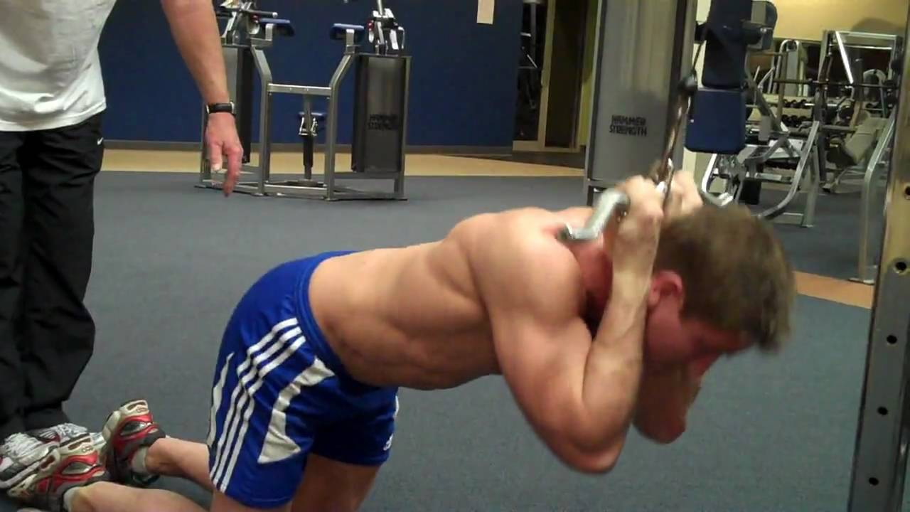 How To Ab Pulldown Youtube