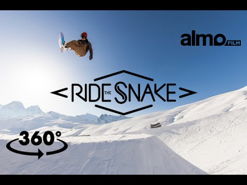 360 video Snowboard : Ride the Snake, top to bottom - Almo