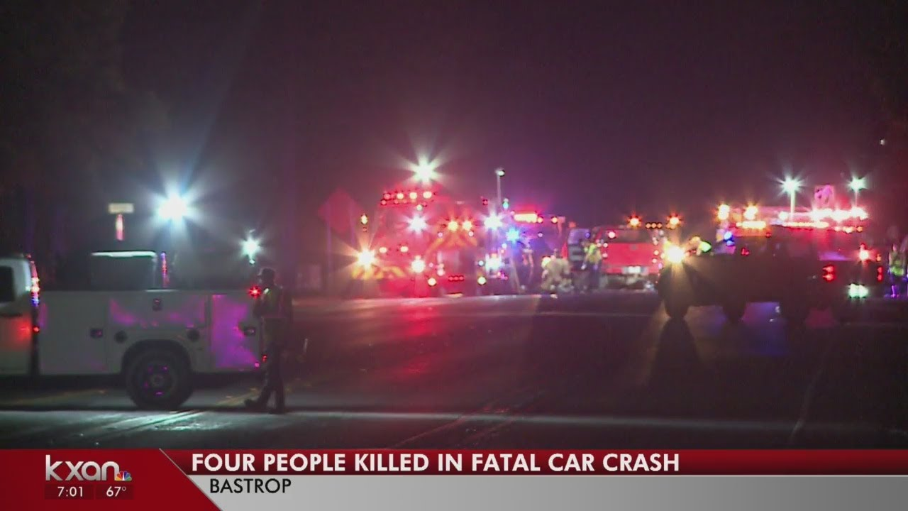 Four people killed in Bastrop Co  crash, all four lanes of SH21 closed