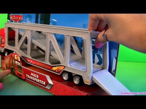 Talking Mack Truck Ramp Transporter + Bug Mouth Lightning McQueen Cars by Funtoys Disney Toy Review