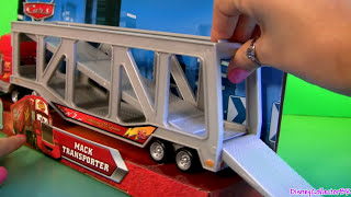 Talking Mack Truck Ramp Playset NEW Cars Transporter Bug Mouth Lightning McQueen Diecast Disney