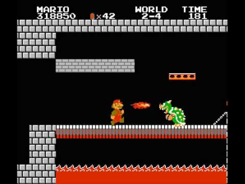 Super Mario Bros Bowser S Castle Music Youtube