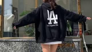 루즈핏 LA 후드집업 티셔츠 2컬러