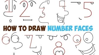 How to Draw Cartoon Faces of People from Numbers 1-9 for Kids and Beginners Step by Step Easy