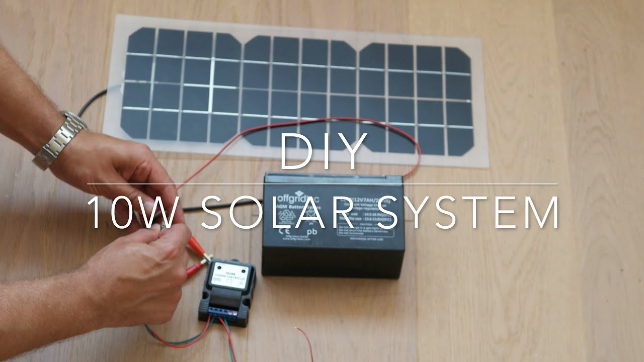 diy 10w solar power system youtube 10w solar panel wiring diagram [ 1280 x 720 Pixel ]