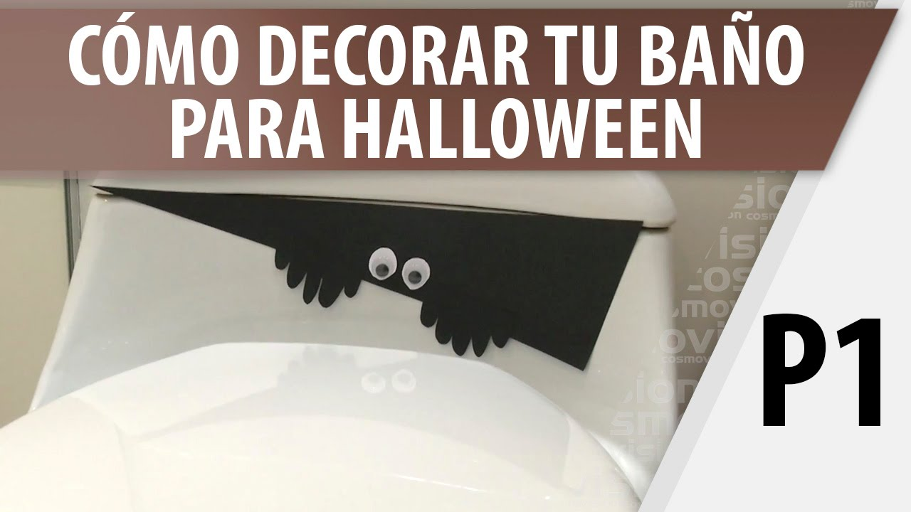 C mo decorar tu ba o para halloween parte 1 youtube - Como decorar banos ...