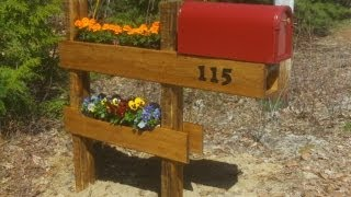 How To Build A Mailbox Planter Easy And Fun.......best Mailbox On The Block
