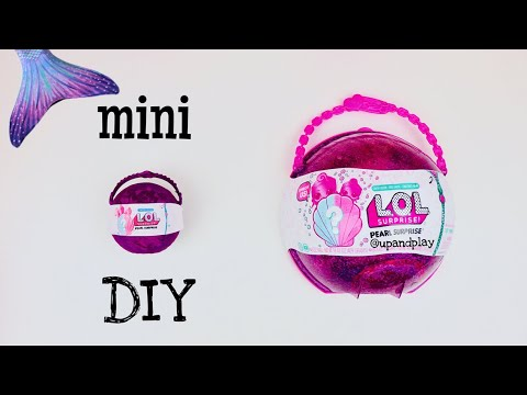 DIY MINIATURE LOL PURPLE PEARL SURPRISE!! How to Make CUSTOM MINI L.O.L with TINY DOLLS & BATH FIZZ!