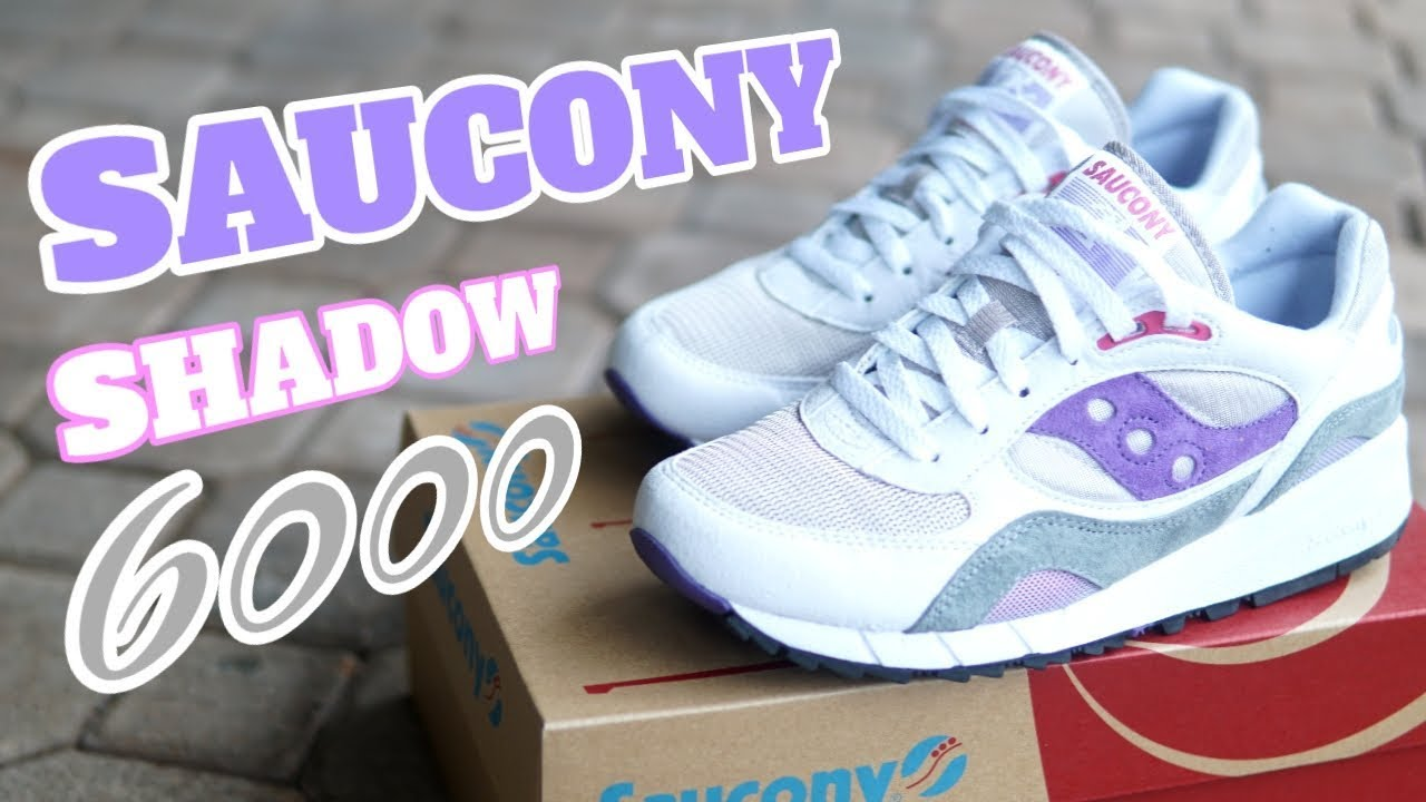 best website 4a805 e6626 SAUCONY SHADOW 6000 White Purple Grey - On Feet Review / Now Available for  Way under Retail