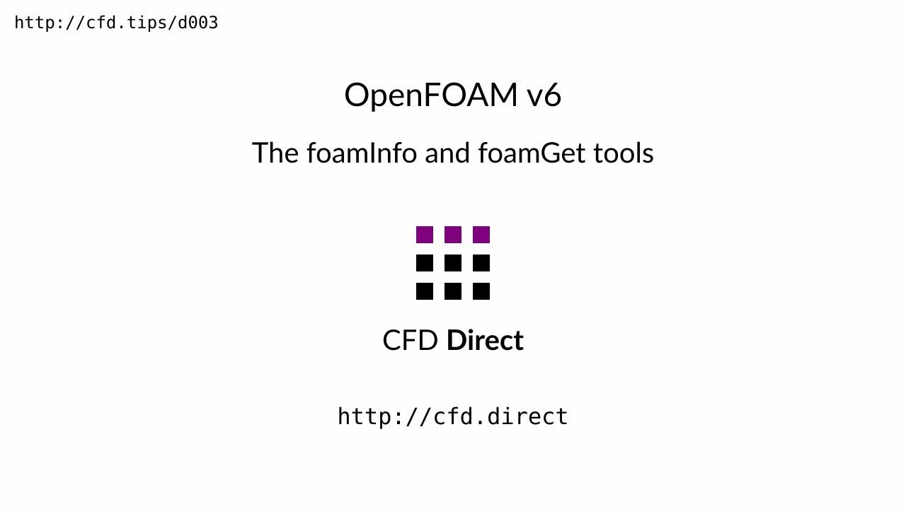 OpenFOAM 6 Released | OpenFOAM Foundation | OpenFOAM