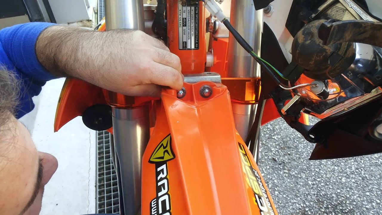 4MX Racing KTM New Fender Adaptor Set YouTube