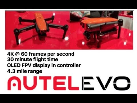 "The DJI MAVIC killer – the Autel ""EVO"" compact folding 4k drone : CES 2018"