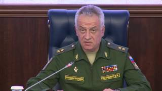 Пресс брифинг первого зам нач ГОУ ГШ ВС РФ генерал лейтенанта Виктора Познихира