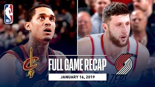 Full Game Recap: Cavaliers vs Trail Blazers | Jusuf Nurkic Records His First Career Triple-Double