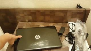 unboxing and startup of hp 15 notebook pc