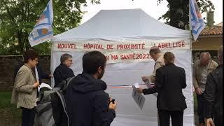 Mannifestation de soutien à l'hôpital de Ruffec contre le projet de loi