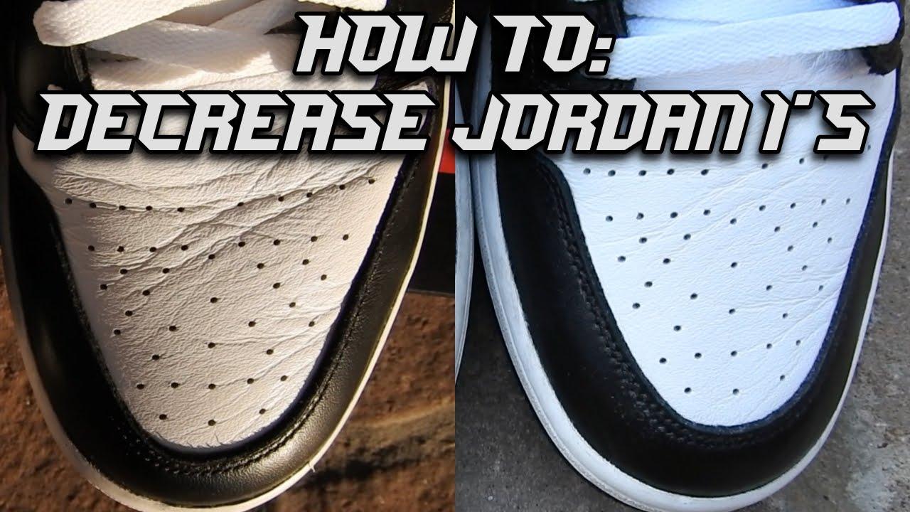 How to decrease Jordans! (Jordan 1