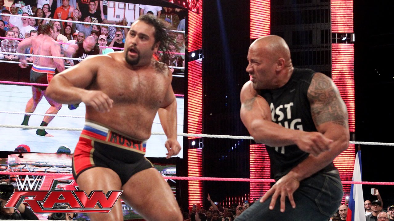 Download The Rock confronts Rusev: Raw, Oct. 6, 2014