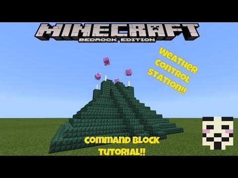 Minecraft Weather Control Command Block Tutorial