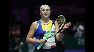 2017 WTA Finals Round Robin| Karolina Pliskova vs. Jelena Ostapenko | WTA Highlights