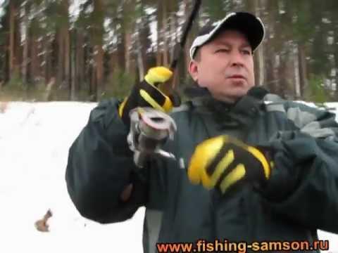 Зимняя рыбалка спиннингом на сбросе