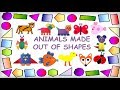 Kids Craft: ANIMALS MADE OUT OF PAPER SHAPES!