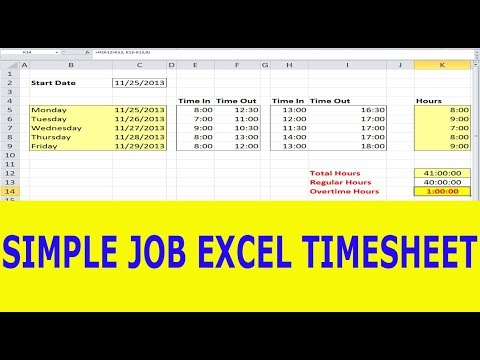 How to Make Excel Time sheet in Hindi - YouTube