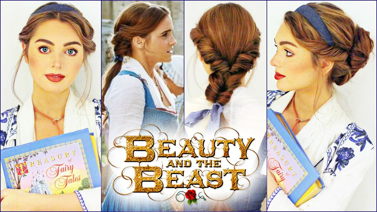 Emma Watsons Belle Hairstyles Beauty The Beast Tutorial鹿