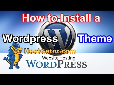 How to install WordPress Theme in Hostgator Cpanel & WordPress Dashboard (2015)