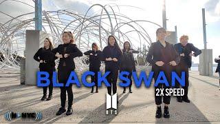 [KPOP IN PUBLIC NYC/H-VARIETY] BTS (방탄소년단) - Black Swan 2X SPEED Dance Cover