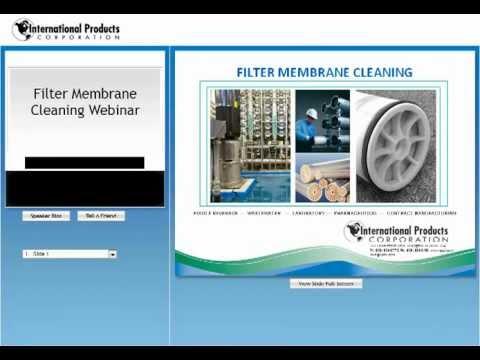 Filter Membrane Cleaning Webinar