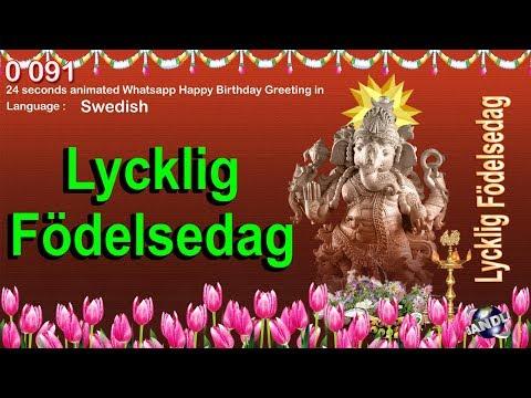 0 091 Swedish 24 seconds animated Happy Birthday Whatsapp Greeting Wishes