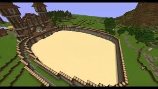 Minecraft Medieval PvP Arena Timelapse : NPG
