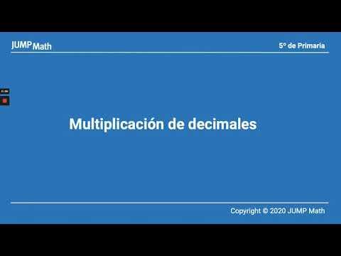 5. Unidad 6. Multiplicación de decimales