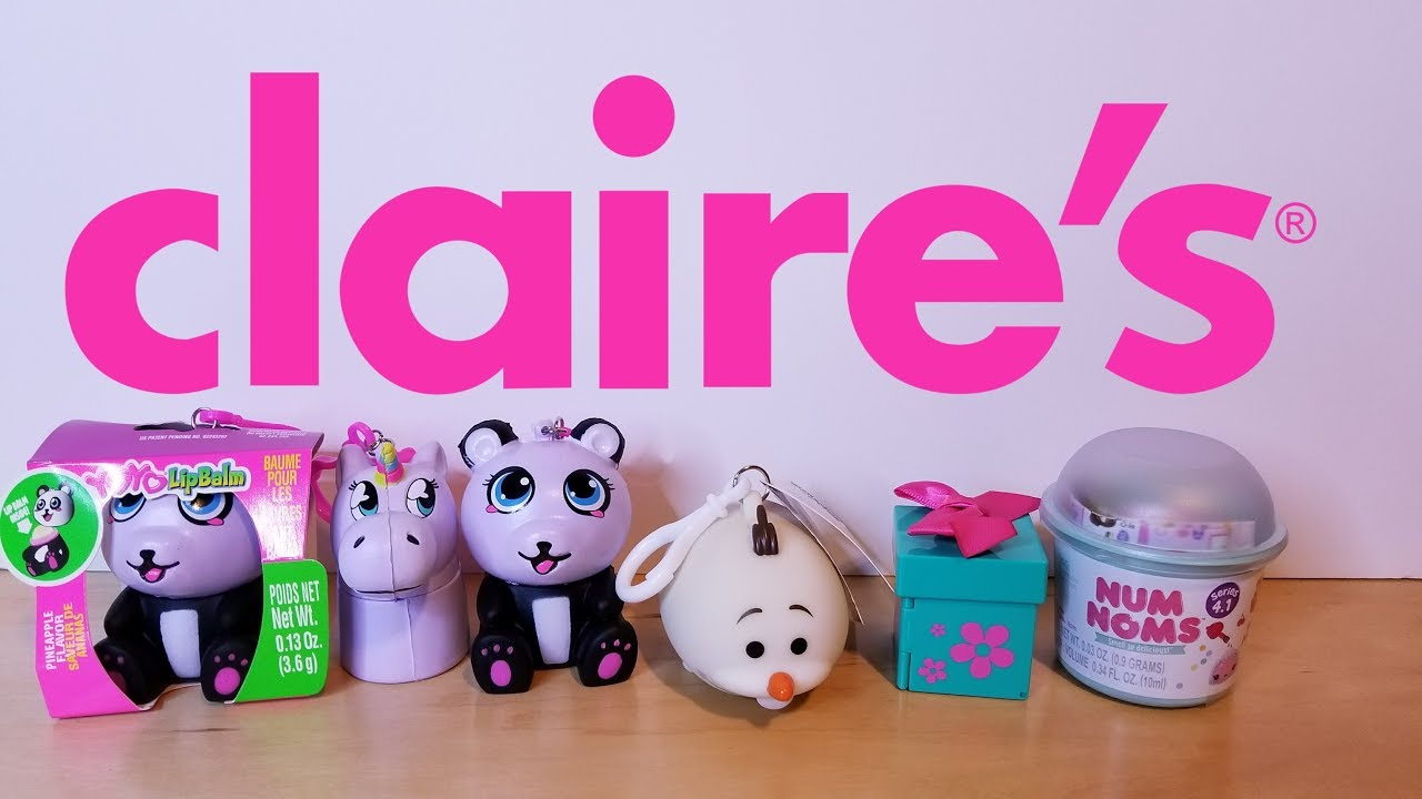 NEW SQUISHIES AT CLAIRE S ~ NEW SQUISHY YOYO LIPBALMS & TOY HAUL AT CLAIRE S - YouTube